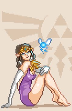 Princess Zelda, Pixel pin-ups by Kyle Olson
