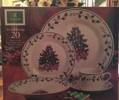 Gibson Designs Christmas Tree Trimming  20 PC Set 4 Place Setting NIB #Gibson