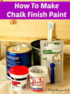 Easy how to make chalk finish paint tutorial #LowesCreator