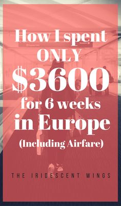How to plan a Europe budget trip. $3600 for 6 weeks in Europe including airfare. FREE printable and example of my exact trip. https://www.theiridescentwings.com/single-post/2017/04/12/How-I-spent-only-3600-for-6-weeks-in-Europe-including-airfare
