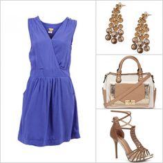 Aposte em um vestido liso de cor forte, com muitos acessórios! http://tempodemoda.climatempo.com.br/S%C3%A3o_Paulo