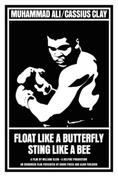 Float Like a Butterfly, Sting Like a Bee (1969) Separate Cinema: 100 Years of Black Poster Art
