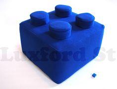 Almofada bloco de Lego: Pode pisar que não machuca os pés!