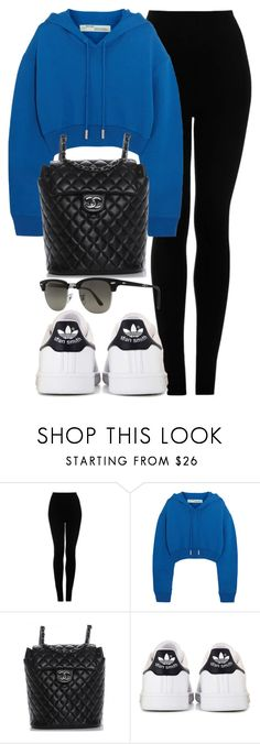 """#13933"" by vany-alvarado ❤ liked on Polyvore featuring Topshop, Off-White, Chanel, adidas and Ray-Ban"
