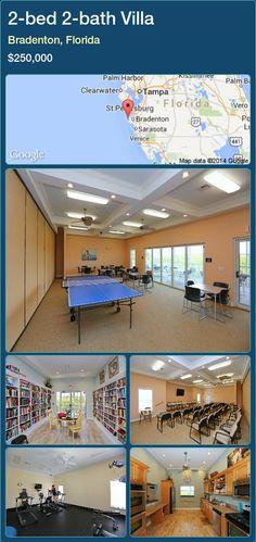 2-bed 2-bath Villa in Bradenton, Florida ►$250,000 #PropertyForSaleFlorida http://florida-magic.com/properties/49353-villa-for-sale-in-bradenton-florida-with-2-bedroom-2-bathroom