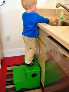 A step stool is an important part of your child's independence, and adults will also find it helpful to reach upper cabinets and tall shelves. This simple woodworking project is one that the whole family can help build.