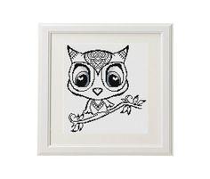 SALE Owl Cross Stitch Pattern owl Cross от AnimalsCrossStitch