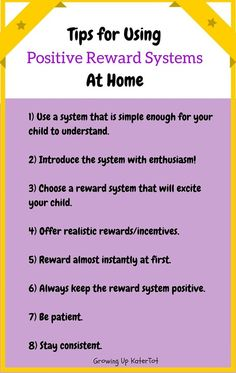 Tips for Using Positive Reward Systems At Home