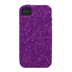 This design is available on other phone cases as well. Purple Glitter Sparkle Graphic Art Pattern Design Vibe iPhone 4 Cases