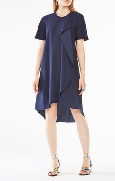 Perri Draped Ruffle Dress