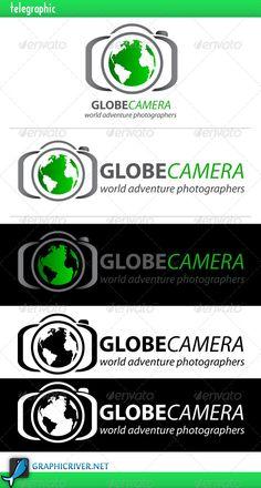 Globe Camera Logo — Vector EPS #photograph #smart camera • Available here → https://graphicriver.net/item/globe-camera-logo/4080026?ref=pxcr