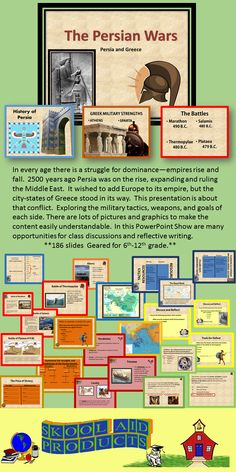 Ancient Greece: The Persian Wars PowerPoint Presentation Ancient World History, World History Lessons, Greek History, Teaching History, Social Studies Lesson Plans, Social Studies Resources, School Resources, Ancient Persia, Primary Teaching