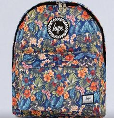 Hype backpack. Floral