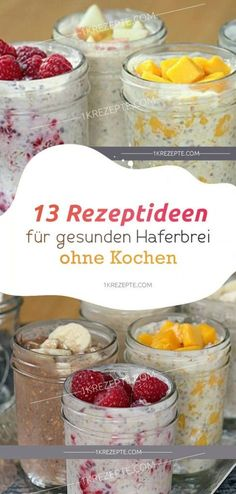 13 Rezeptideen zum Besten von gesunden Haferbrei ohne Kochen 13 recipe ideas for healthy porridge without cooking . Try these healthy recipes for porridge that will get you off to a good start in the day. snacks for work Healthy Porridge Recipe, Porridge Recipes, Oatmeal Recipes, Brunch Recipes, Breakfast Recipes, Snack Recipes, Law Carb, Healthy Snacks, Healthy Recipes