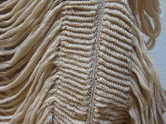 Experimental knit design with contrasting textures; knitwear detail; textiles for fashion // Nikki Gabriel Shima Seiki