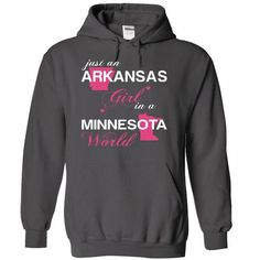 (ARJustHong001) Just An Arkansas Girl In A Minnesota Wo - #pullover hoodie #sweater scarf. BUY TODAY AND SAVE => https://www.sunfrog.com/Valentines/-28ARJustHong001-29-Just-An-Arkansas-Girl-In-A-Minnesota-World-Charcoal-Hoodie.html?68278