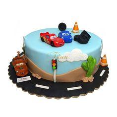 τούρτες γενεθλίων :: τούρτες για αγόρια :: CARS 1 3D