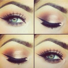 how to apply eyeliner on top lid - Google Search