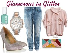 Who doesn't love a classic sparkly pump? Especially when paired with super cute boyfriend jeans and a baggy blouse! Get the Glee today only for $19 with our Facebook Friday deal! http://on.fb.me/Ni2ws7