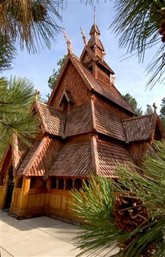 """Rapid City's """"Chapel in the Hills"""" is an exact replica of a traditional Norwegian stavkirke. The chapel is open to visitors throughout the spring, summer and fall months and available for weddings."""