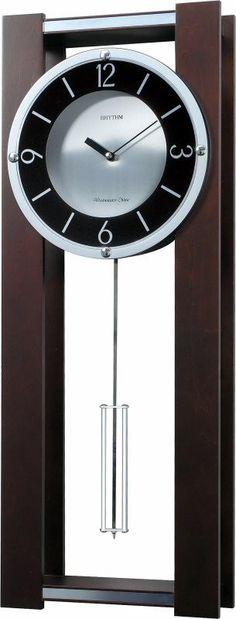 Rhythm Clocks WSM Espresso II Musical Wall Clock CMJ541UR06   LampsUSA