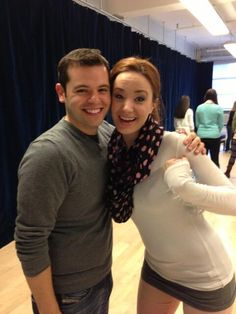 Making magic with this lady. @sierraboggess #broadwayWorkshop