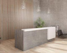 Office Space Design, Office Furniture Design, Office Interior Design, Office Interiors, Reception Furniture, Dental Office Decor, Lobbies, Modern Buildings, Building Design