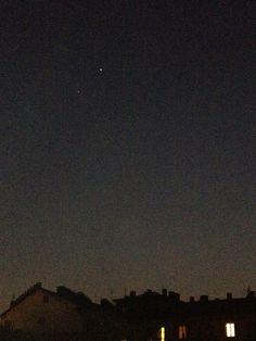 Giove congiunto a Venere, nel cielo di Torino il 15 marzo 2012.