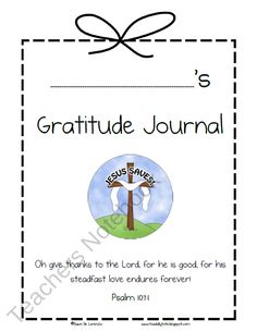 FREE Christian Gratitude Journal for Children product from Toadally-Tots on TeachersNotebook.com