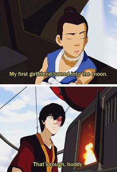 I laughed so hard...I love how Zuko doesn't think Sokka's crazy. He doesn't even ask for an explanation XD