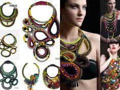 www.cewax.fr aime ce collier plastron style ethnique tendance tribale tissu africain wax Toubab Paris