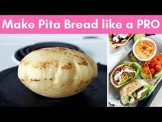 The only 6 simple steps you need to know to make Pita Bread at home like a BOSS! Find all the tips and tricks to make soft, chewy and puffy pita bread. Bakery Recipes, Bread Recipes, Cooking Recipes, Homemade Pita Bread, Pita Sandwiches, Food Staples, Tortillas, Other Recipes, Bread Baking