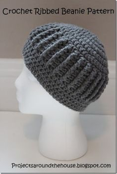 crochet ribbed beanie free crochet pattern