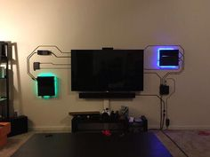 If you can't hide the wires, make them part of the decor. - Album on Imgur