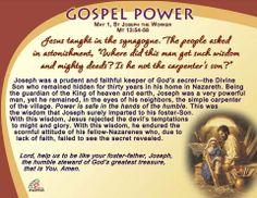 Gospel Power - Feast of St Joseph, the Worker