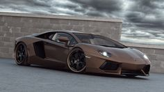 lamborghini aventador brown modification wallpaper