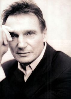 I wouldn't normally pin a celeb, but there is something quite lovely about this shot of Liam Neeson.
