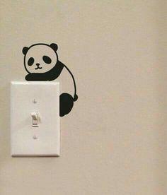 Wandtattoos Niedlichen Panda Lichtkunst Switch niedlichen Vinyl Wall Decal Sticker How To Choose The Wall Painting Decor, Diy Wall Art, Wall Decor, Wall Decal Sticker, Wall Stickers, Wall Vinyl, Pvc Vinyl, Niedlicher Panda, Porte Diy
