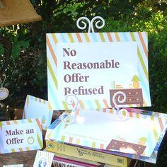 idea, printables, success yard, garage sales, sale sign, prints, garag sale, yard sale, yards