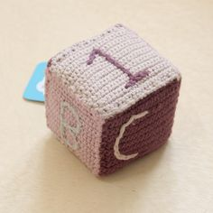 Fair Trade, handmade, organic cotton baby soft block. Fair trade toys by Pebble Child. Gifts that give.