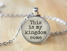 This is My Kingdom Come  Music Lyrics by ShakespearesSisters, $9.00 Imagine Dragons Lyric Necklace