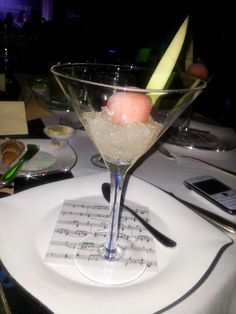 Watermelon And Lime Sorbet infused with Campari