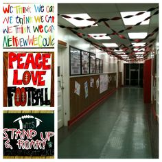 Few signs we made to decorate for Senior Night...surprised the kids by decorating the Senior Hall
