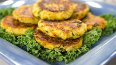 Kids will love these finger-friendly rice and veggie cakes