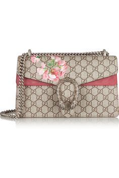 060dc0db147c Gucci - Dionysus Blooms small printed coated canvas and suede shoulder bag