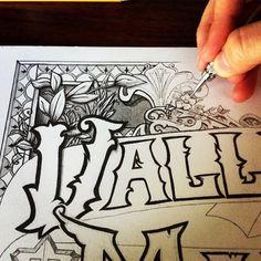 Valley Maker Hand Lettered Illustration by Brandon Mikel Paul.