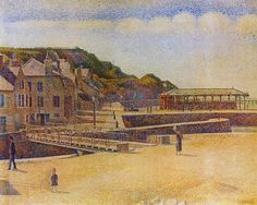 "Georges Seurat ""Port-en-Bessin"" 1888 (Minneapolis Institute of Art)"