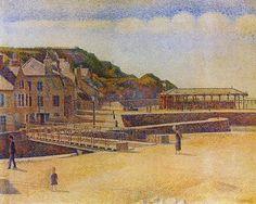 "Georges Seurat ""Port-en-Bessin"" 1888 (Minneapolis Institute of Art)"