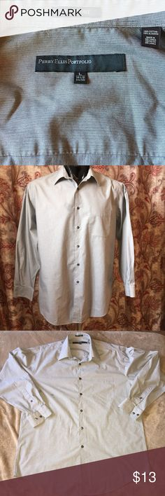 Perry Ellis Button Portfolio Down Great condition, very clean with no rips, tears or stains. Please Make Offers. Perry Ellis Shirts Dress Shirts