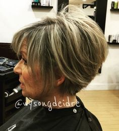 80 Best Modern Hairstyles and Haircuts for Women Over 50 - 80 Best Hairstyles for Women Over 50 That Take Off 10 Years - Short Stacked Bob Haircuts, Stacked Bob Hairstyles, Bob Hairstyles For Fine Hair, Hairstyles Over 50, Modern Hairstyles, Short Hairstyles For Women, Cool Hairstyles, Short Haircuts, Braided Hairstyles